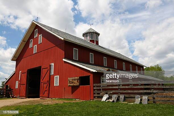 red barn - columbus ohio stock photos and pictures