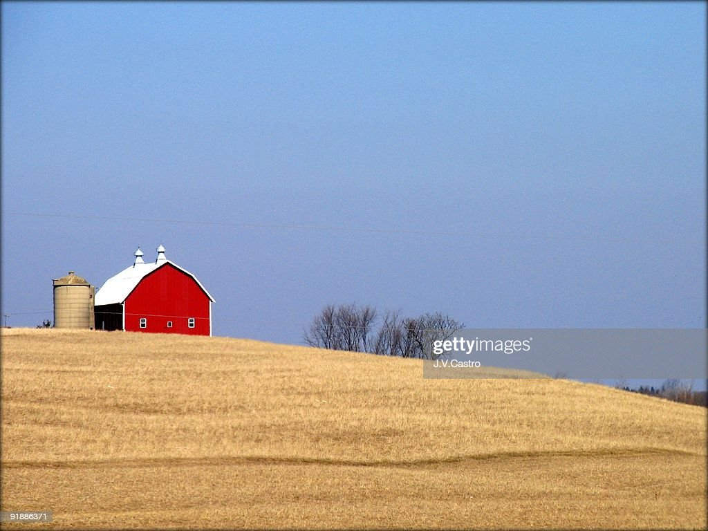 Red Barn : Foto de stock