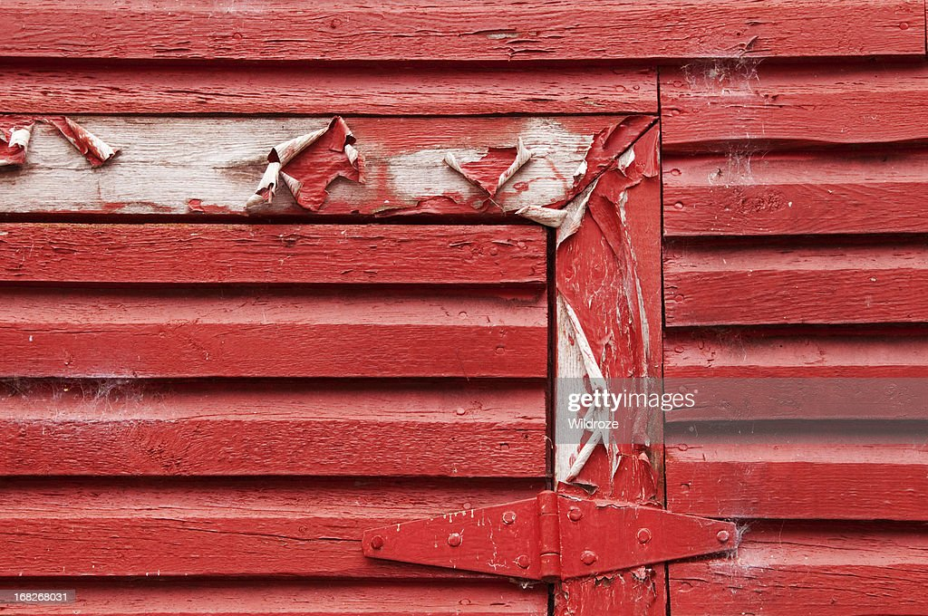 red barn wood. Red Barn Wood Planks With Peeling Paint : Stock Photo 9
