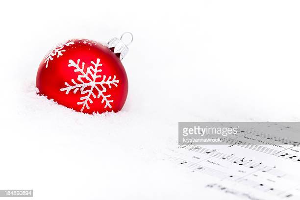 Red Bauble on snow
