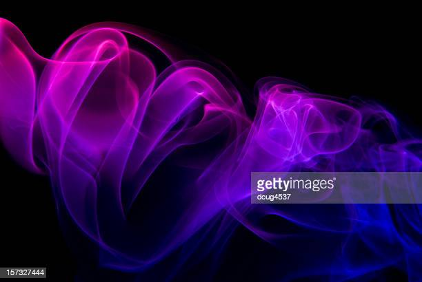 Red, Blue Smoke Abstract