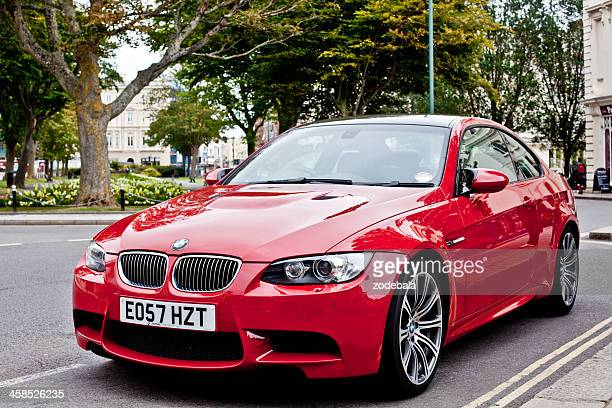 red bmw m3 - bmw stock pictures, royalty-free photos & images