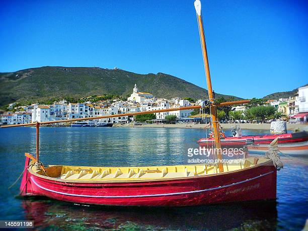 Red boat in Cadaques