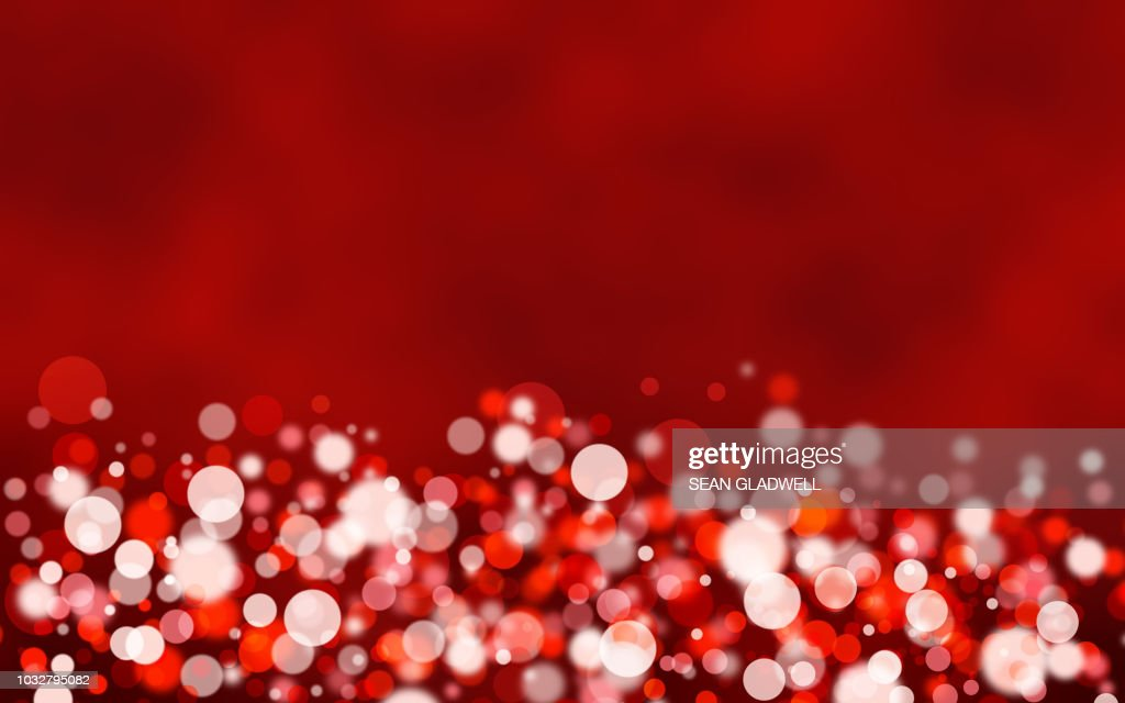 Red bokeh light background : Stock Photo