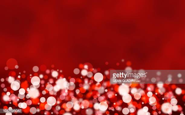 Red bokeh light background