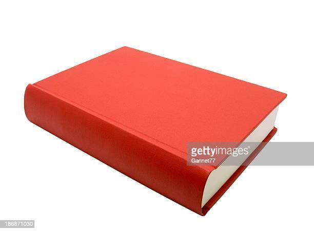 Rote Buch, isoliert auf weiss