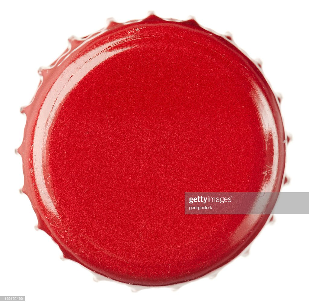 Red Bottle Cap Close-Up : Stock Photo