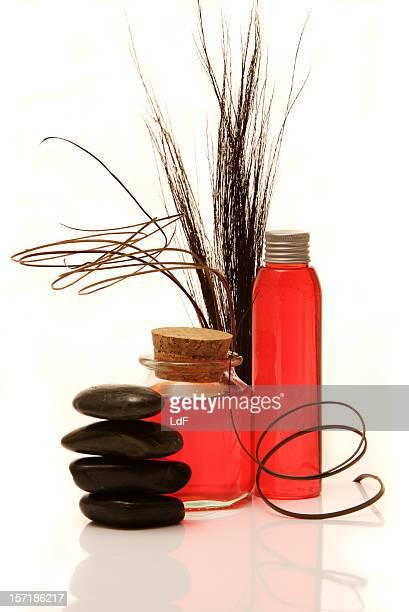 Rote Weinflaschen [ zwei ]