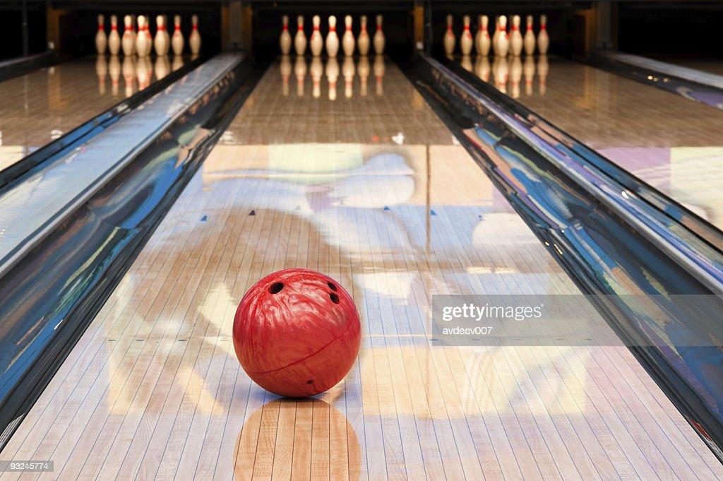 Palla da Bowling e PIN : Foto stock