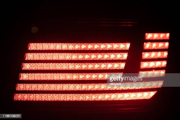 red brake light closeup view