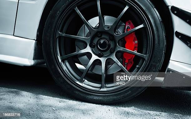 red brake - wheel stock pictures, royalty-free photos & images