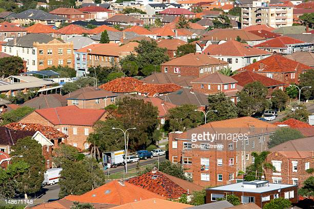 Red brick and tiled roofs of Bondi.