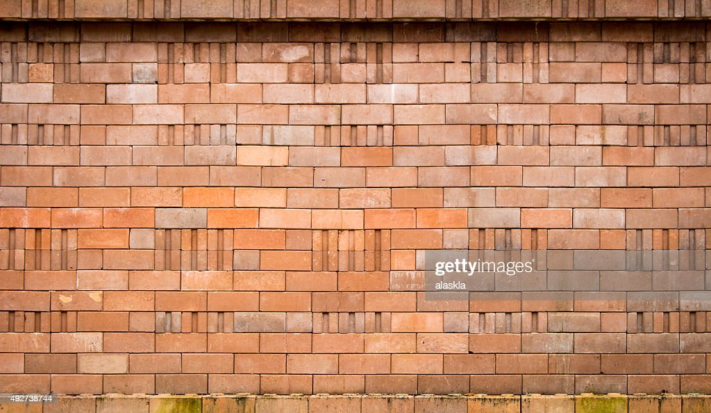 Red Brick Wall Texture Background Lighting From Above Vignette
