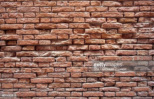 Red brick wall Venetian arsenal Veneto Italy