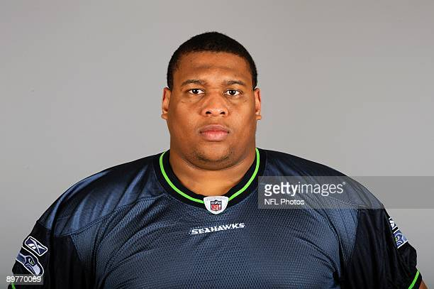 Red Bryant of the Seattle Seahawks poses for his 2009 NFL headshot at photo day in Seattle Washington