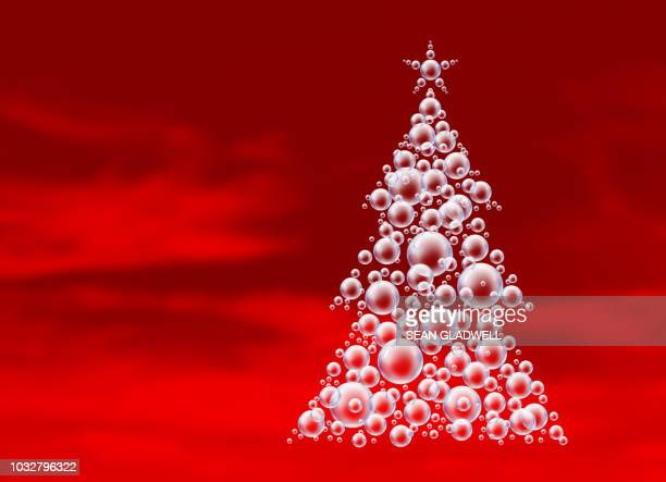 Red bubbles christmas tree