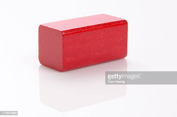Red building block, close-up