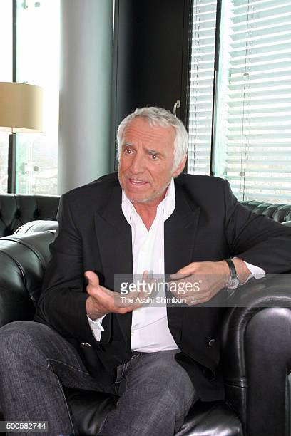 Red Bull energy drink cofounder Dietrich Mateschitz speaks during the Asahi Shimbun interview on February 20 2006 in Salzburg Austria