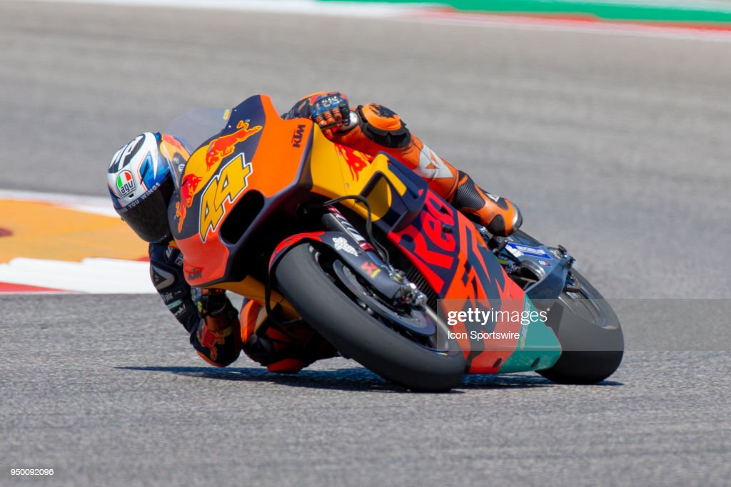 Red Bull KTM Factory Racing Pol Espargaro (44) rounds the bend during the MotoGP Red Bull U.S. Grand Prix of The Americas - Championship at Circuit of The Americas on April 22, 2018 in Austin, Texas.