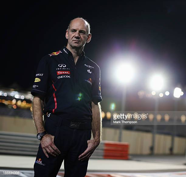 Red Bull Racing Chief Technical Officer Adrian Newey is seen following practice for the Abu Dhabi Formula One Grand Prix at the Yas Marina Circuit on...