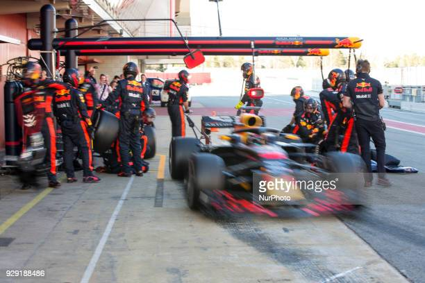 Red Bull Racing driver Daniel Ricciardo of Australia during the test of F1 celebrated at Circuit of Barcelonacon 7th March 2018 in Barcelona Spain