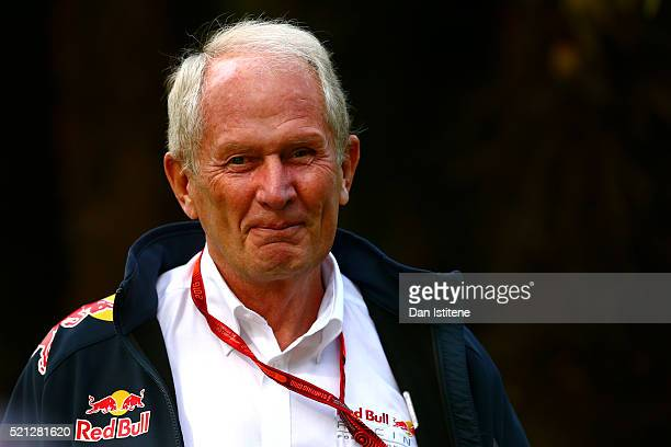Red Bull Racing Team Consultant Dr Helmut Marko in the Paddock during practice for the Formula One Grand Prix of China at Shanghai International...