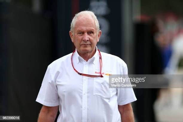 Red Bull Racing Team Consultant Dr Helmut Marko in the paddock during the Grand Prix de France
