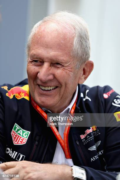 Red Bull Racing Team Consultant Dr Helmut Marko talks in the Paddock during final practice for the Formula One Grand Prix of Russia on April 29 2017...