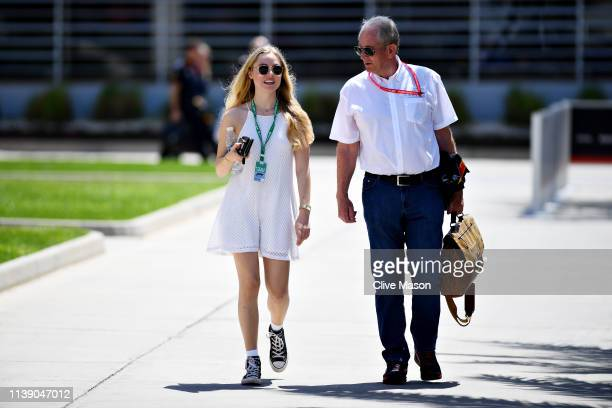 Red Bull Racing Team Consultant Dr Helmut Marko walks in the Paddock before practice for the F1 Grand Prix of Bahrain at Bahrain International...