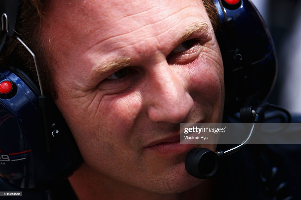 Red Bull Racing Team Principal Christian Horner is seen during the Brazilian Formula One Grand Prix at Interlagos Circuit on October 18, 2009 in Sao Paulo, Brazil.
