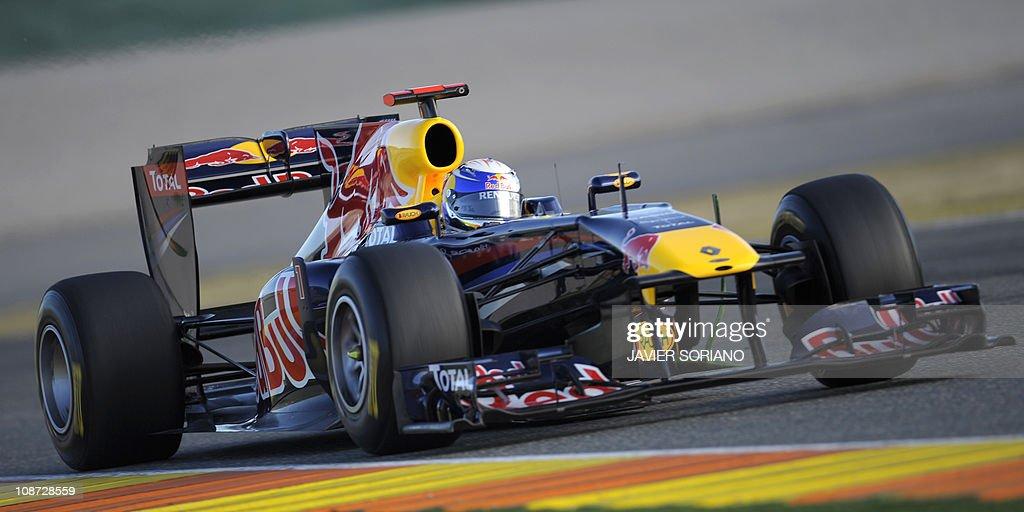 536550ce Red Bull Racing team's German driver Sebastian Vettel takes part in ...