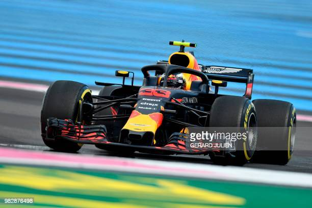 TOPSHOT Red Bull Racing's Dutch driver Max Verstappen competes during the Formula One Grand Prix de France at the Circuit Paul Ricard in Le Castellet...
