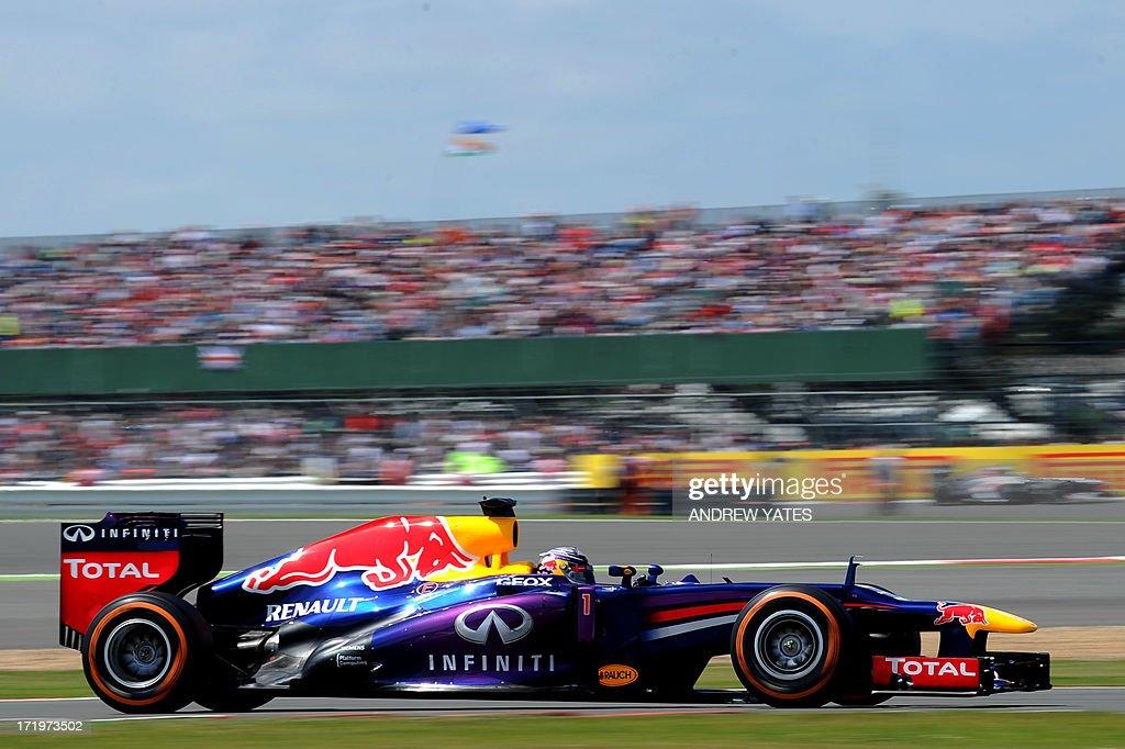 d4a118d0 Red Bull Racing's German driver Sebastian Vettel drives at the ...
