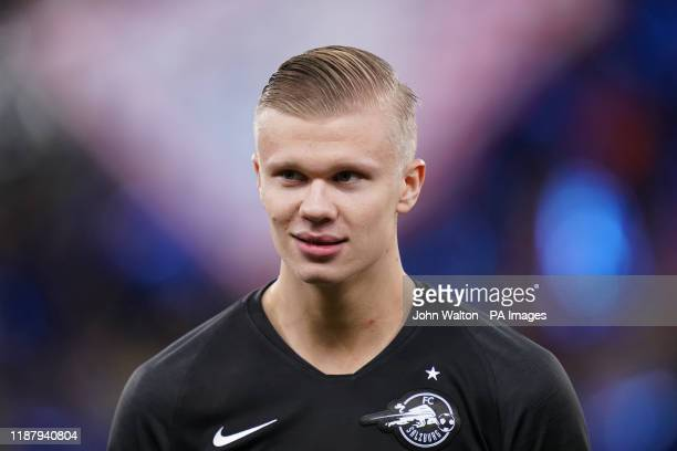 Red Bull Salzburg's Erling Braut Haland prior to kickoff during the UEFA Champions League match at the Red Bull Arena Salzburg PA Photo Picture date...