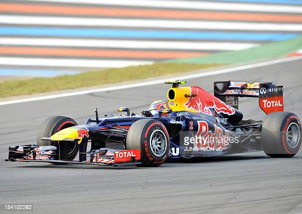 Red Bull-Renault driver Mark Webber of Australia steers his car during the Formula One Korean Grand Prix at the Korean Circuit in Yeongam on October...