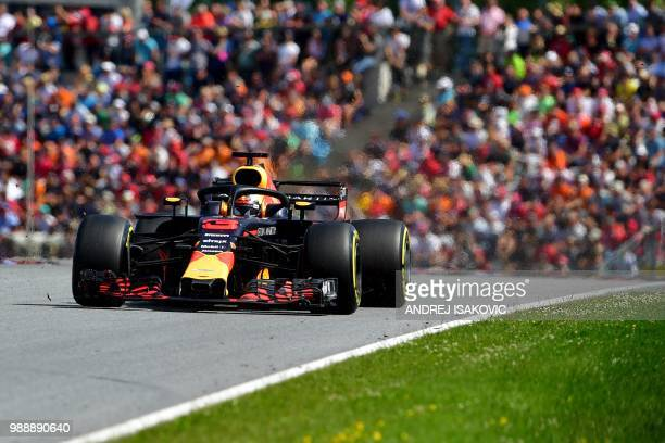 Red Bull's Australian driver Daniel Ricciardo steers his car during the Austrian Formula One Grand Prix in Spielberg central Austria on July 1 2018