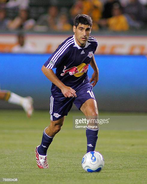 NY Red Bulls Claudio Reyna in action against the Los Angeles Galaxy's defensive line during tonight game at the Home Depot Center Carson CA May 8...