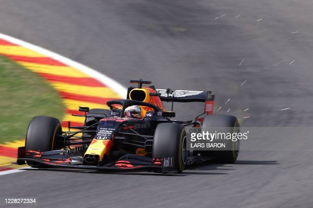 Red Bull's Dutch driver Max Verstappen during the Belgian Formula One Grand Prix at the Spa-Francorchamps circuit in Spa on August 30, 2020.