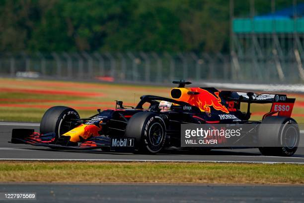 Red Bull's Dutch driver Max Verstappen during the F1 70th Anniversary Grand Prix at Silverstone on August 9, 2020 in Northampton. - The race...