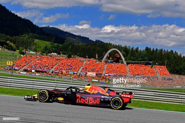 Red Bull's Dutch driver Max Verstappen steers his car during the Austrian Formula One Grand Prix in Spielberg central Austria on July 1 2018