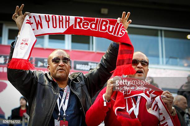 NY Red Bulls Fans during the Soccer MLS NY Red Bulls vs Toronto FC March 06 2016 Home Opener at Red Bull Arena in Harrison NJ Toronto FC won the...