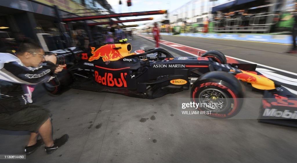 TOPSHOT-AUTO-PRIX-AUS-F1 : News Photo