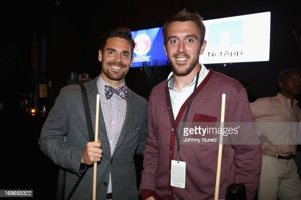 Red Bulls Heath Pearce and Eric Alexander attend the NY Giants Justin Tuck's 5th Annual Celebrity Billiards Tournament on May 30, 2013 in New York...
