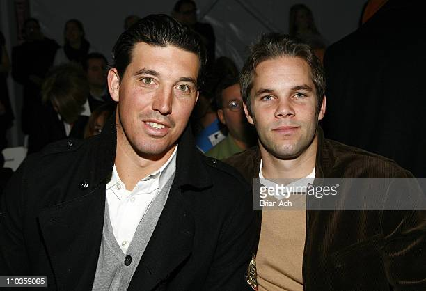 Red Bulls players Jon Conway and Kevin Goldthwaite attend Nautica 2008 during MercedesBenz Fashion Week at the Tents at Bryant Park on February 1...