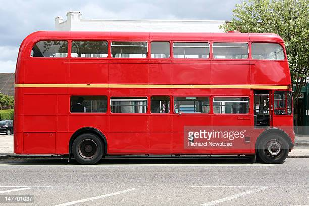 red bus - mode of transport stock pictures, royalty-free photos & images