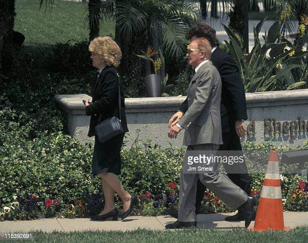 Red Buttons during Funeral of Frank Sinatra at Little Shepherd Catholic Church in Beverly Hills California United States