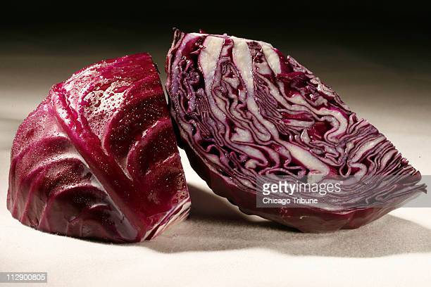 Red cabbage has a slightly tougher texture and some say a slightly sweeter flavor than green cabbage