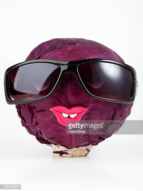 Red cabbage portrait