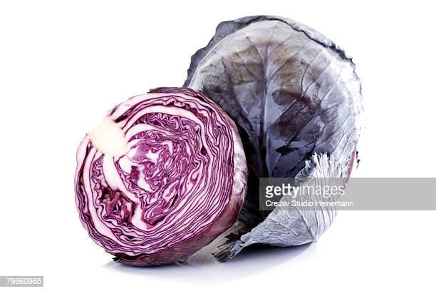 red cabbages, close-up - repolho - fotografias e filmes do acervo