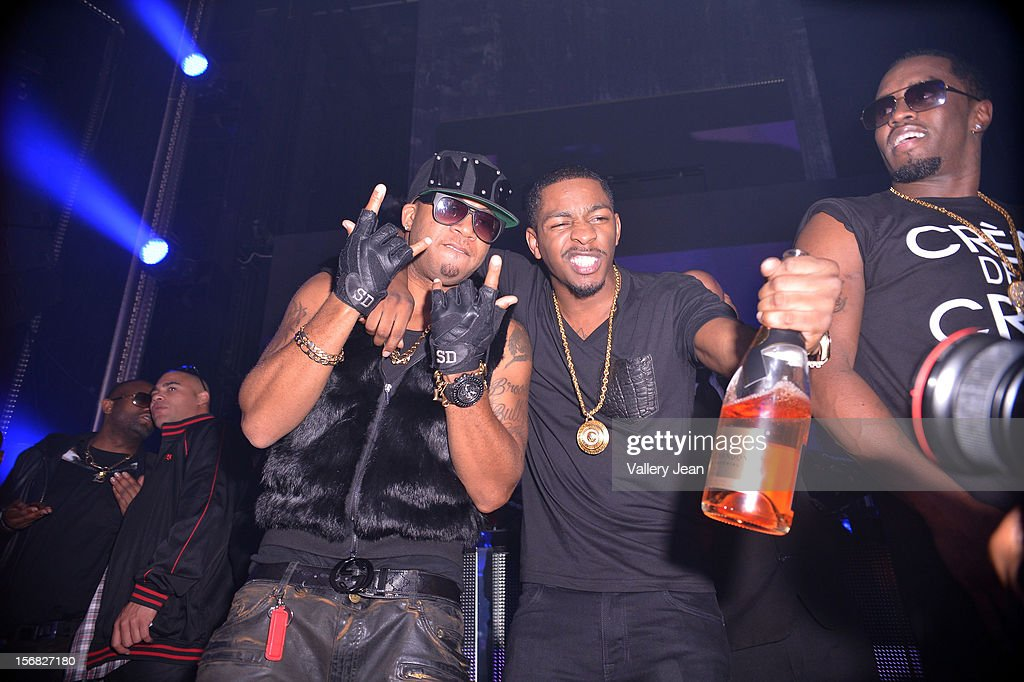 Red Cafe, King Los and P.Diddy celebrate Thanksgiving at Bamboo Miami on November 21, 2012 in Miami, Florida.
